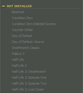 Steam - No Icons